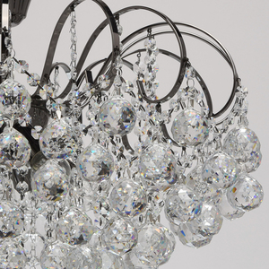 Pearl Crystal 8 hanging lamp Gray - 232016608 small 6