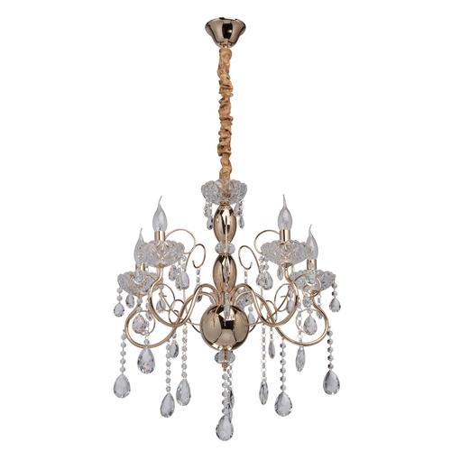 Hanging lamp Adele Crystal 5 Gold - 373011205