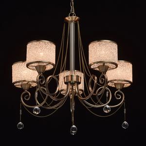 Hanging lamp Monica Classic 5 Brass - 372013405 small 1