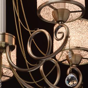 Hanging lamp Monica Classic 5 Brass - 372013405 small 12