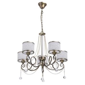 Hanging lamp Monica Classic 5 Brass - 372013405 small 0