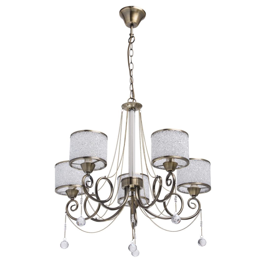 Hanging lamp Monica Classic 5 Brass - 372013405