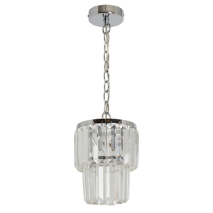 Pendant lamp Adelard Crystal 1 Chrome - 642014201 small 0
