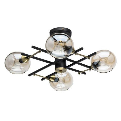 Lampa wisząca Megapolis 4 Czarny - 605013704
