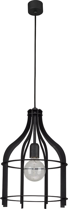 Hanging lamp System Cage L Anthracite white E27 1 x 60W