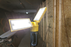 Outdoor Led lamp on an adjustable Lutec PERI stand small 1