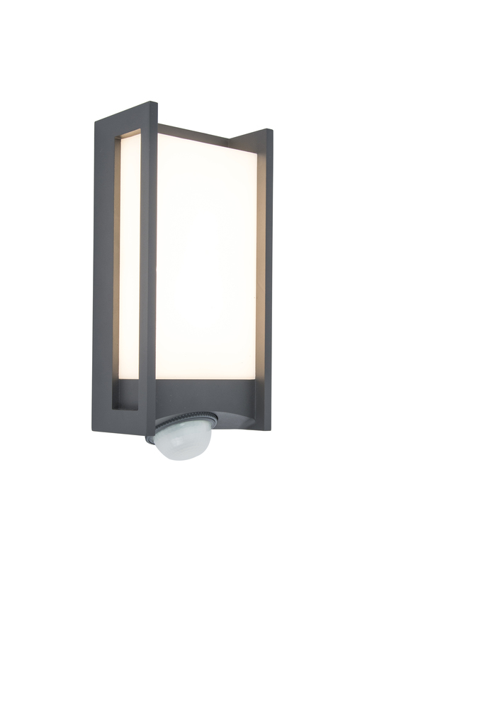 Outdoor wall lamp with motion sensor Lutec QUBO