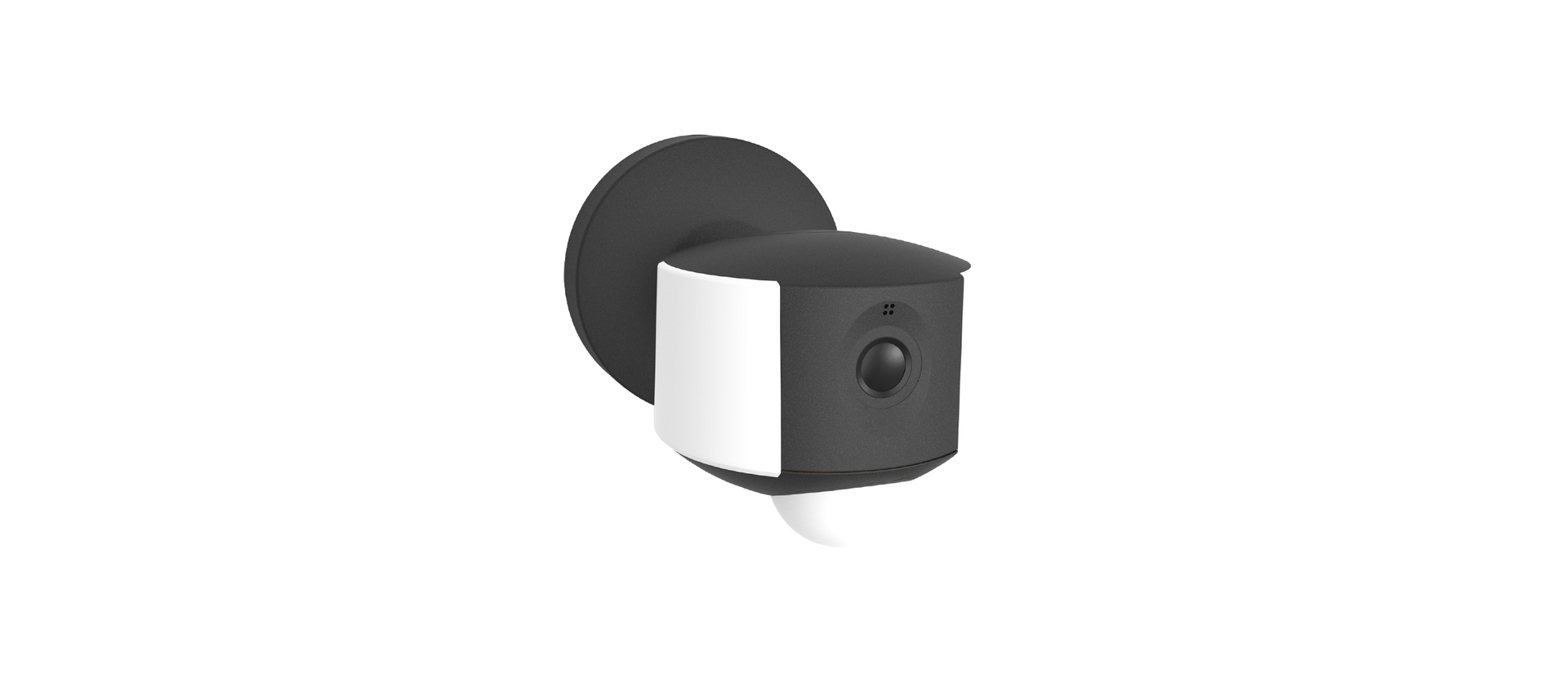 Outdoor wall lamp with a built-in camera, motion sensor and Lutec ARA speaker