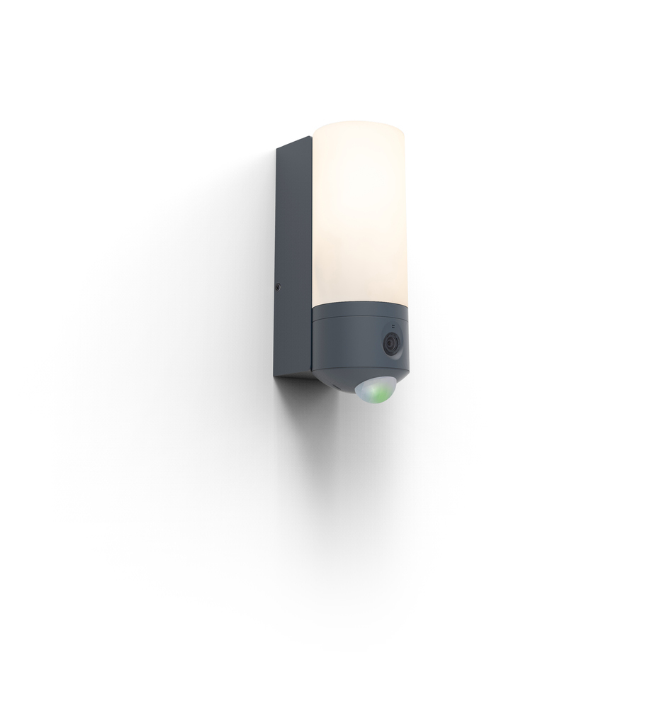 Outdoor wall lamp with camera and Lutec POLLUX motion sensor
