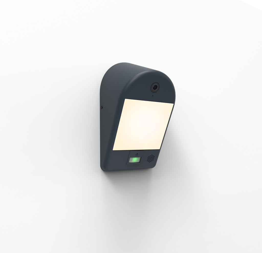 Lutec MIMO outdoor lamp with camera, motion sensor and speaker