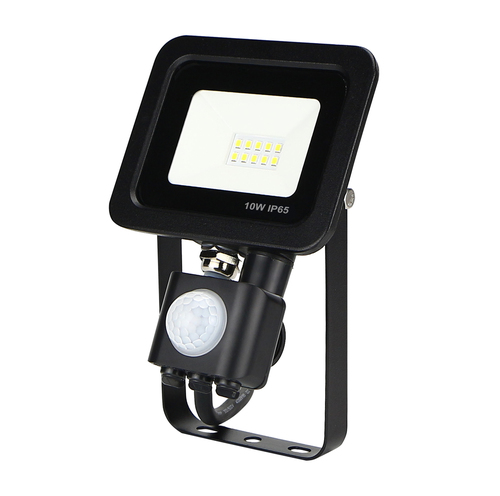 LED ZeXt slim floodlight with motion sensor