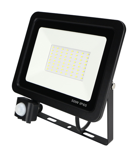 LED ZeXt slim floodlight with motion sensor 50W / 230V 6400K PIR