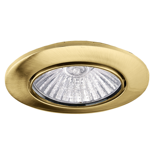 MONDO 50W ceiling spotlight, fixed, gold antique