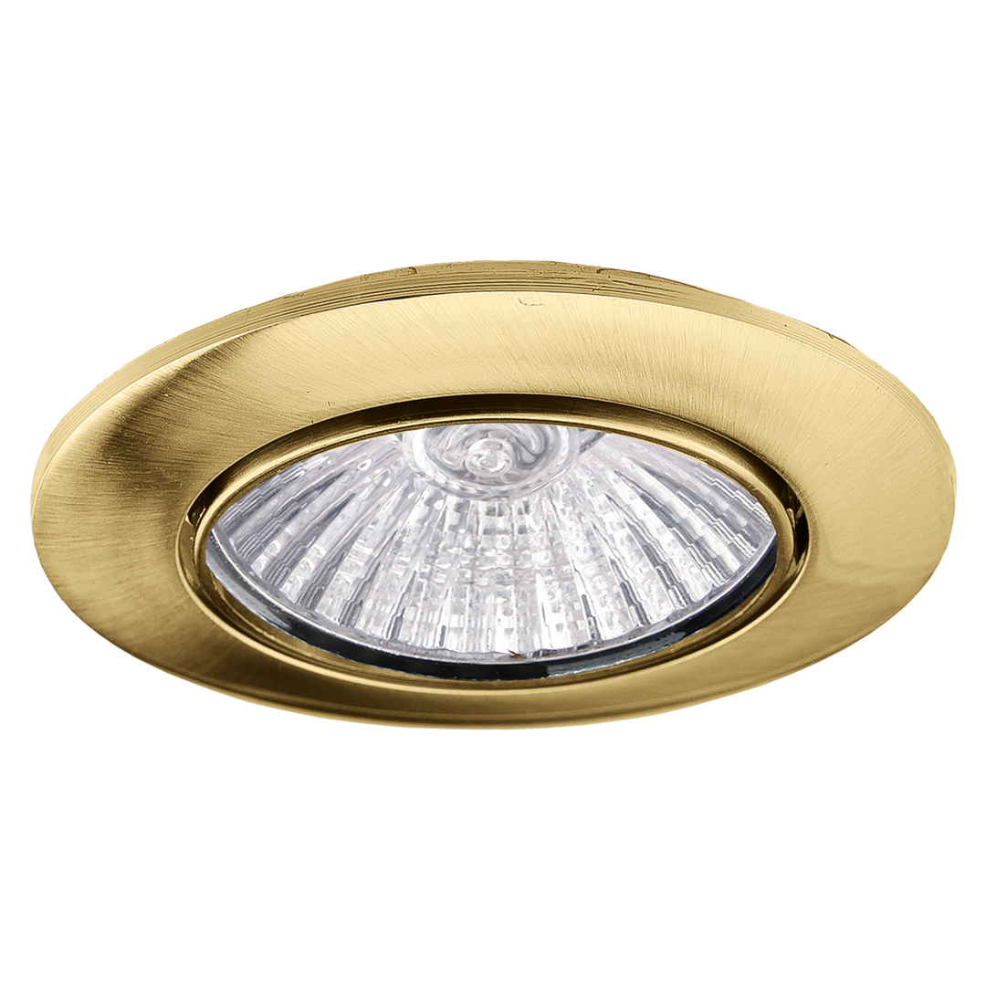 MONDO 50W ceiling spotlight, fixed, gold antique