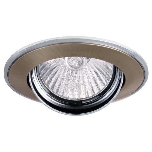 Ceiling lighting point fitting VERDE 50W movable satin / chrome