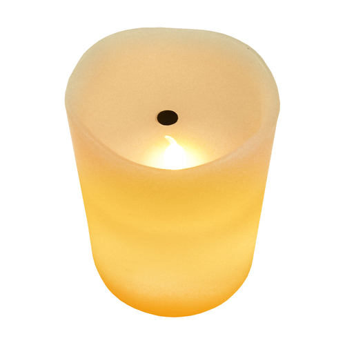 Wax LED candle to blow off the warm color