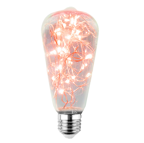 Decorative LED skylight bulb ST64 E27 2W 230V Red