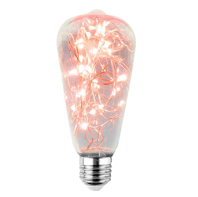 Decorative LED skylight bulb ST64 E27 2W 230V Red