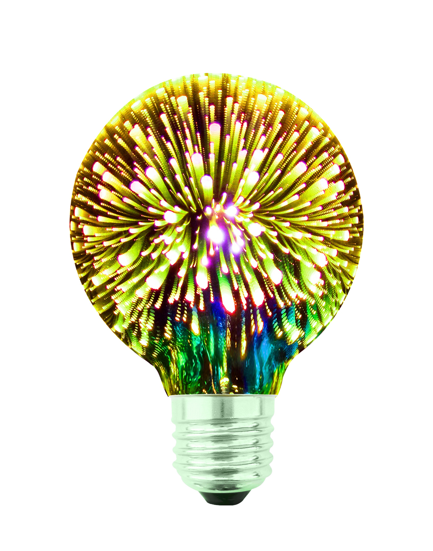 Decorative LED Bulb 3D Fireworks G80 E27 4W 230V Silver