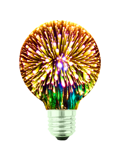 Decorative LED Bulb 3D Fireworks G80 E27 4W 230V Gold
