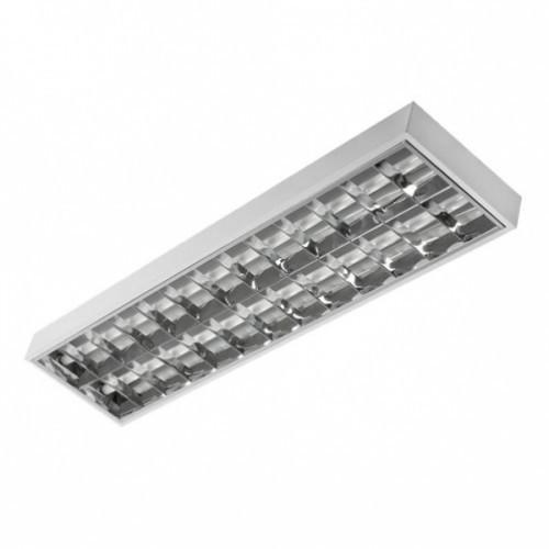 2x18W raster surface-mounted fluorescent luminaire