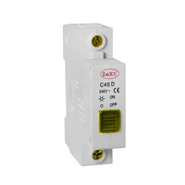 Yellow C45D signal lamp