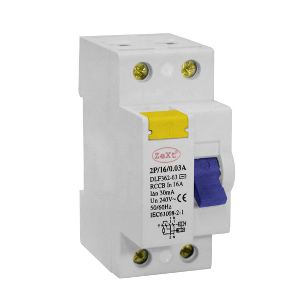 Residual current circuit breaker DLF 2P 16A 100mA