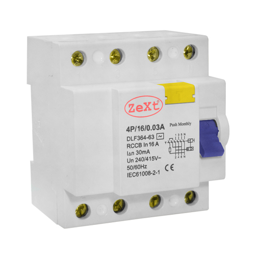 Residual current circuit breaker DLF 4P 16A 30mA