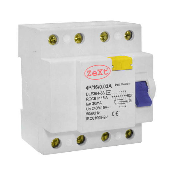 Residual current circuit breaker DLF 4P 16A 300mA