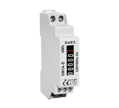 1-phase energy meter - 5A - analog