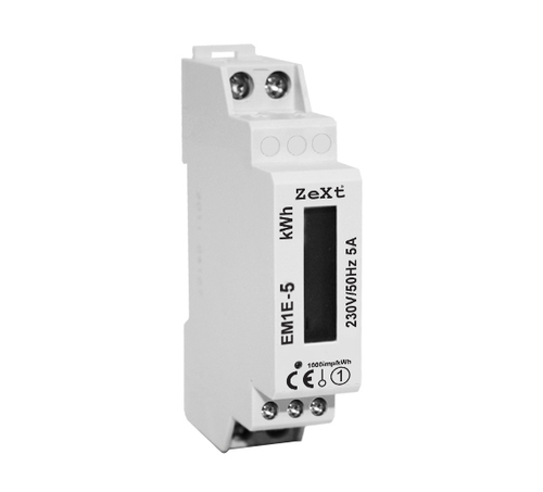 1-phase energy meter - 5A - LCD