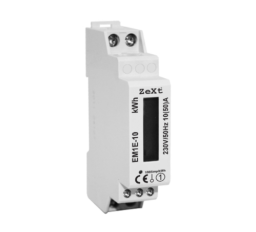 1-phase energy meter - 10A - LCD