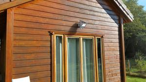 Outdoor solar lamp with motion sensor Lutec ZETA small 1