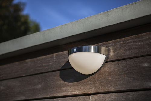 Outdoor solar wall lamp with motion sensor Lutec BUBBLE