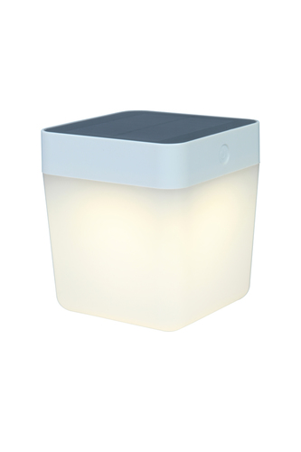 Outdoor solar table lamp Lutec TABLE CUBE