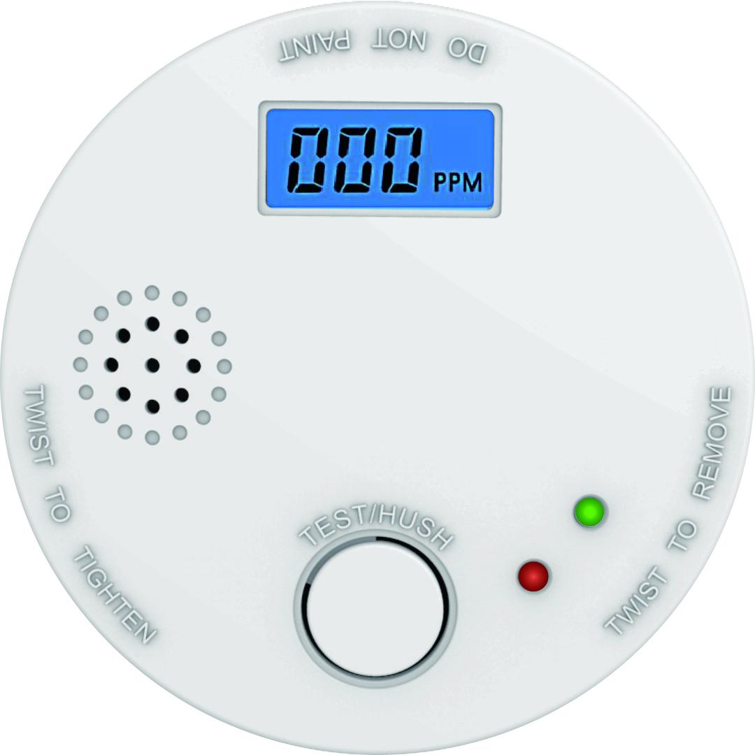 Battery carbon monoxide detector