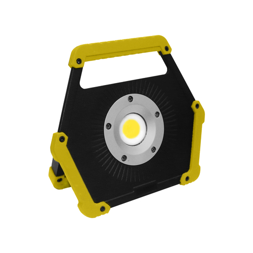 LED floodlight 10W 6400K yellow battery