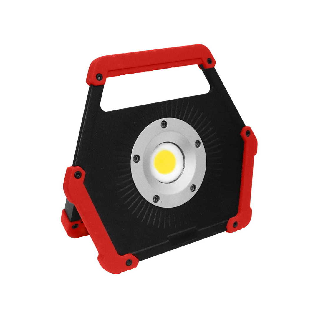 LED floodlight 10W 6400K red battery