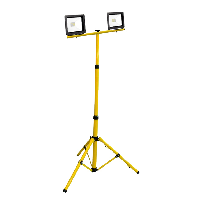 Dual LED slim floodlight on 2x20W 6400K tripod