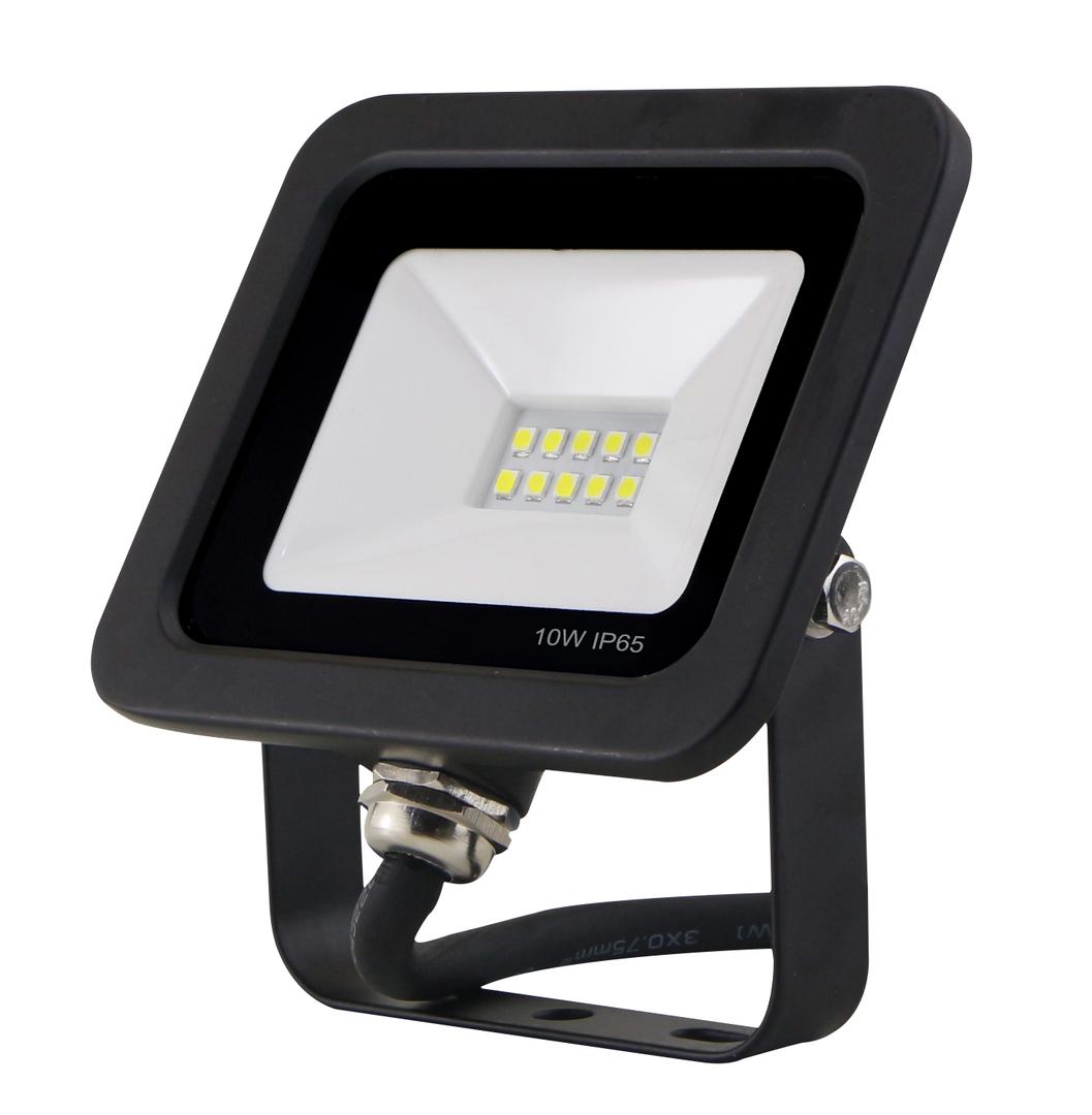 LED floodlight slim with motion sensor 10W / 230V 6400K
