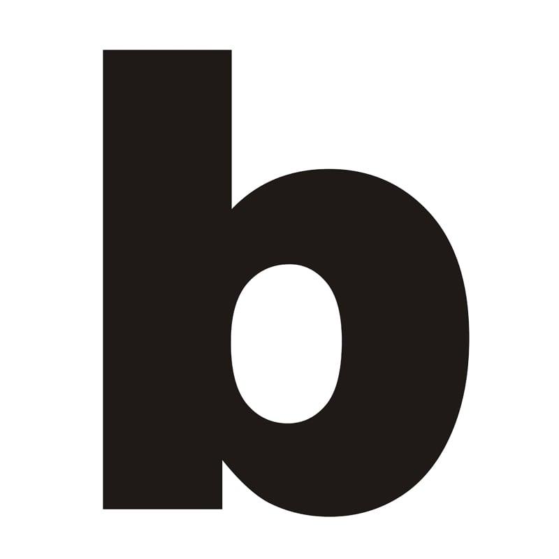 Letter on the house b black