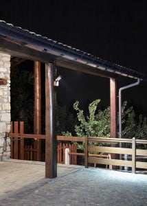 Italian outdoor wall light Ares YODA LED small 7