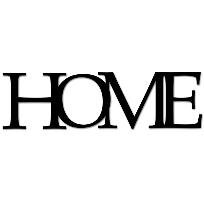 Inscription on the wall HOME black