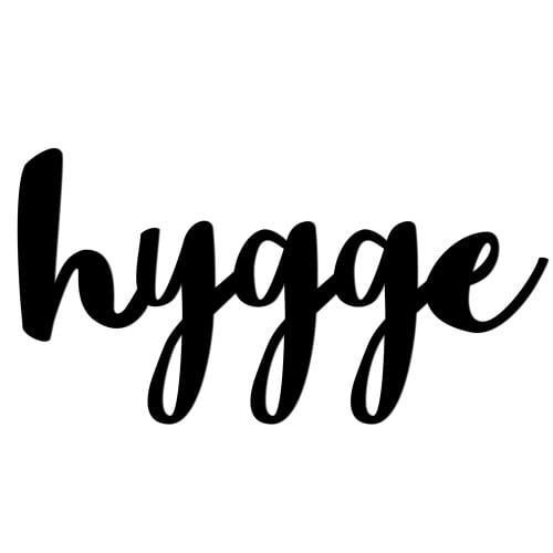 Inscription on the wall HYGGE black