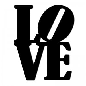 Napis na ścianę LOVE czarny Wzór 1