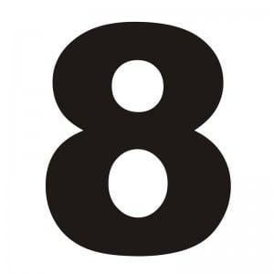 Numer na dom 8 czarny