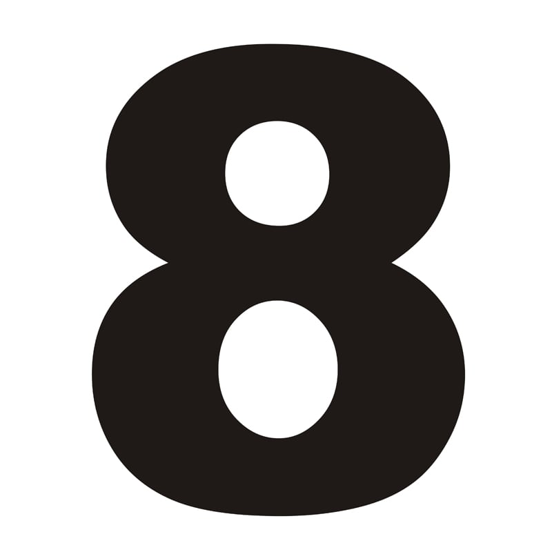 House Number 8 Black
