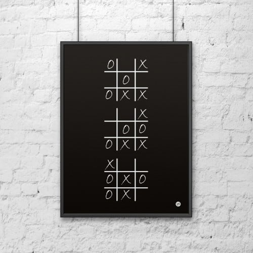 Decorative poster 50x70 cm WHEEL AND CROSS black