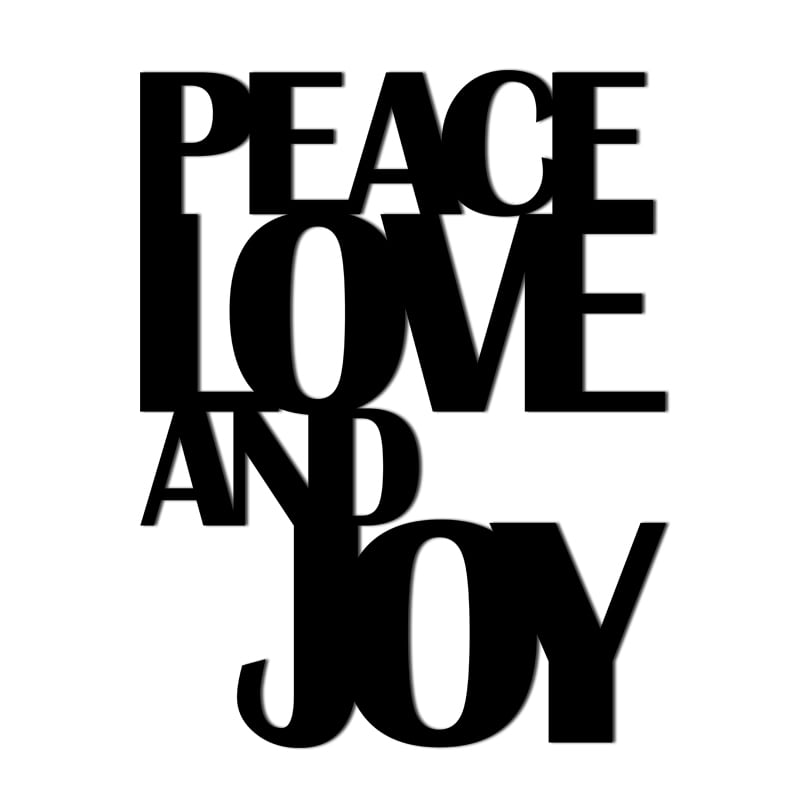 A vintage inscription on the wall of PEACE LOVE AND JOY