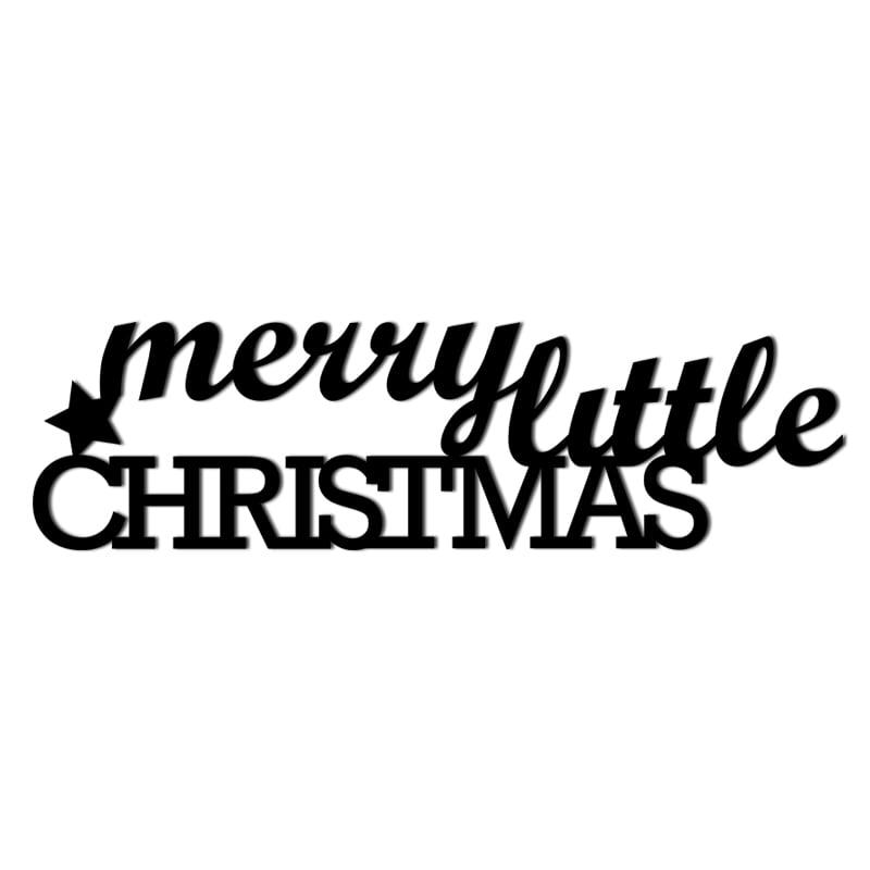 Christmas inscription on the wall of MERRY LITTLE CHRISTMAS
